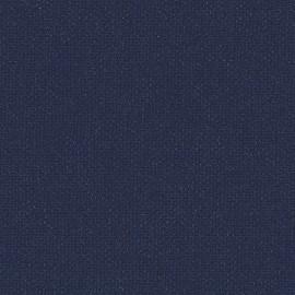 Toile enduite Buckram 506 bleu abysse L106