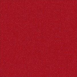 Toile enduite Buckram 518 rouge pivoine L106