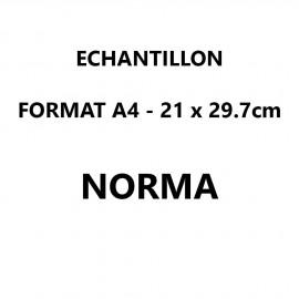 Echantillon Norma format A4 (21*29,7 cm)