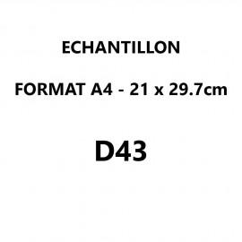Echantillon D43 format A4 (21*29,7 cm)
