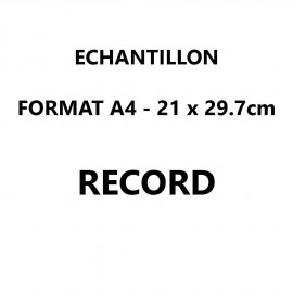 Echantillon Record format A4 (21*29,7 cm)