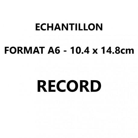 Echantillon Record format A6 (10,5*14,8 cm)