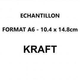 Echantillon Kraft format A6 (10,5*14,8 cm)