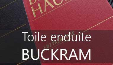 Toile buckram enduite